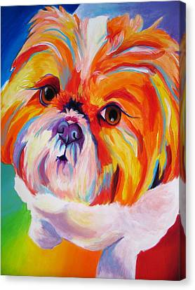 Shih Tzu - Divot Canvas Print by Alicia VanNoy Call