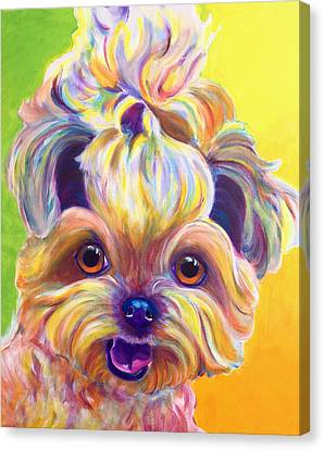 Shih Tzu - Bloom Canvas Print by Alicia VanNoy Call