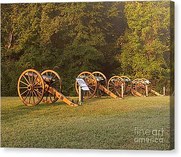 Shiloh Cannons Canvas Print by David Bearden