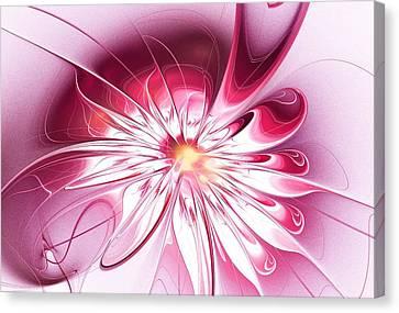 Shining Pink Flower Canvas Print by Anastasiya Malakhova