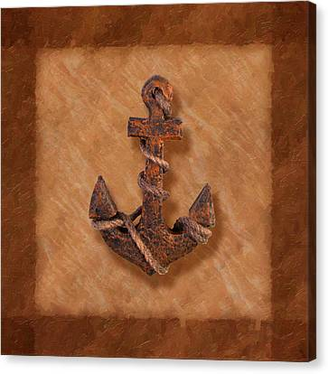 Ship's Anchor Canvas Print by Tom Mc Nemar