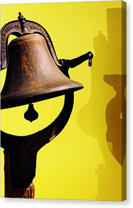 Ship's Bell Canvas Print by Rebecca Sherman