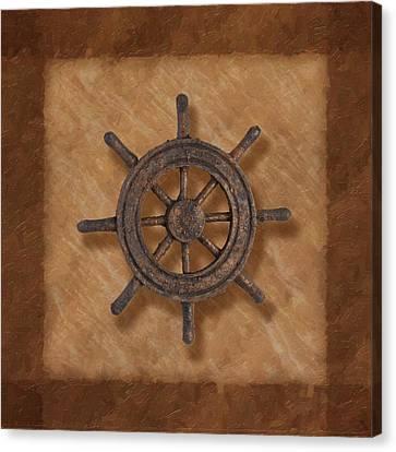Ship's Wheel Canvas Print by Tom Mc Nemar