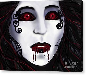 Shock At First Bite Canvas Print by Roxy Riou