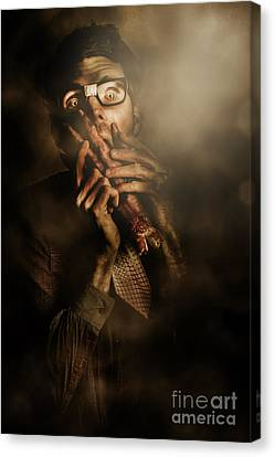 Shock Of Terror On Fright Night  Canvas Print by Jorgo Photography - Wall Art Gallery