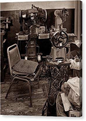 Shoe Hospital - Sepia Canvas Print by Christopher Holmes