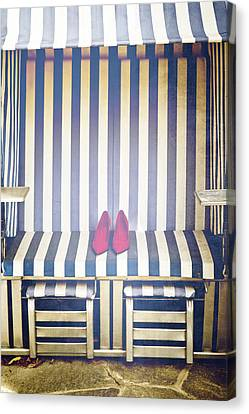 Shoes In A Beach Chair Canvas Print by Joana Kruse