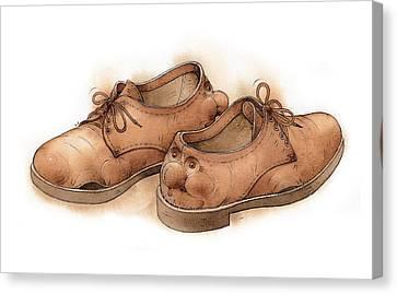 Shoes02 Canvas Print by Kestutis Kasparavicius