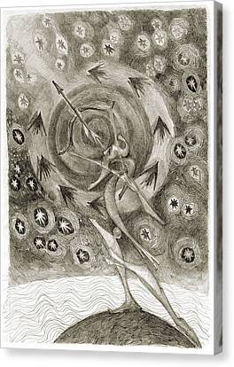 Shooting Stars Canvas Print by Juel Grant