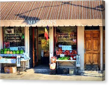 Shops At Cincinnati's Findlay Market # 4 Canvas Print by Mel Steinhauer