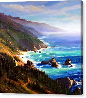 Shore Trail Canvas Print by Frank Wilson