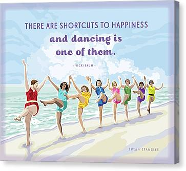 Shortcuts To Happiness Canvas Print by Susan Spangler