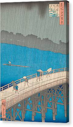Shower Over Ohashi Bridge Canvas Print by Hiroshige