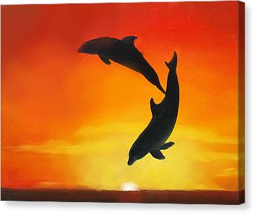 Showing Off Canvas Print by Darlene Green