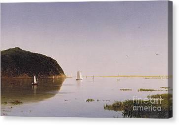 Shrewsbury River - New Jersey Canvas Print by John Frederick Kensett