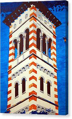 Shrine Bell Tower Detail Canvas Print by Sheri Parris