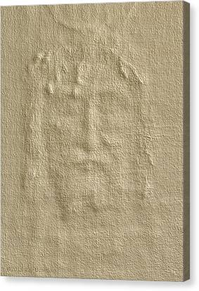 Shroud Of Turin 3d Information Canvas Print by Ray Downing