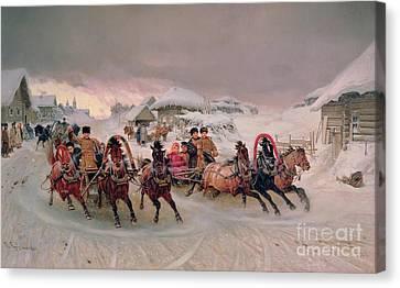 Shrovetide Canvas Print by Petr Nicolaevich Gruzinsky