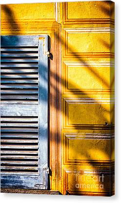 Shutter And Ornate Wall Canvas Print by Silvia Ganora