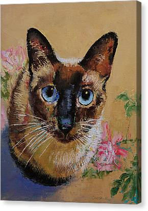 Siamese Cat Canvas Print by Michael Creese