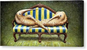 Siamese Twins Canvas Print by Lolita Bronzini