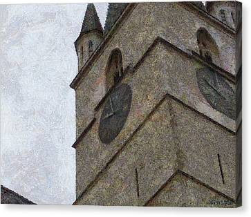 Sibiu Clock Tower Canvas Print by Jeff Kolker