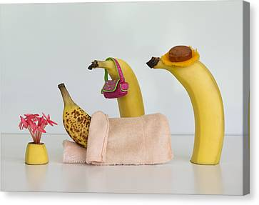 Sick Banana Canvas Print by Jacqueline Hammer
