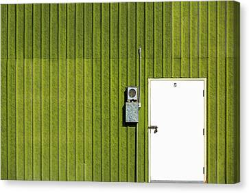Side Of Green Canvas Print by Todd Klassy