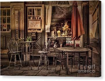 Sidewalk Cafe Canvas Print by Lois Bryan