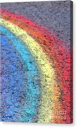 Sidewalk Rainbow  Canvas Print by Olivier Le Queinec