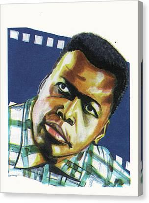 Sidney Poitier Canvas Print by Emmanuel Baliyanga