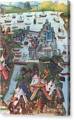 Siege Of Constantinople, 1453 Canvas Print by Photo Researchers