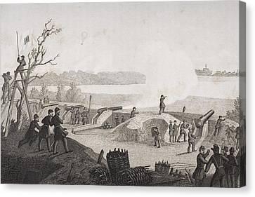Siege Of Yorktown Virginia 1862. Drawn Canvas Print by Vintage Design Pics