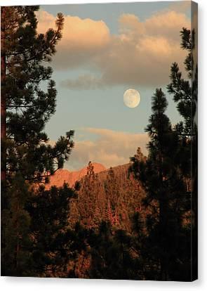 Sierra Eve Moonrise Canvas Print by Diane Zucker