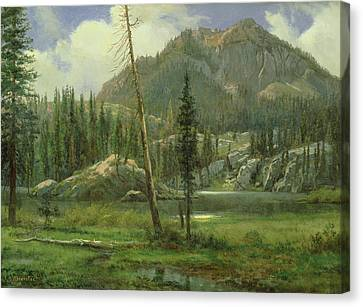 Sierra Nevada Mountains Canvas Print by Albert Bierstadt
