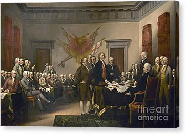 Signing The Declaration Of Independence, July 4th, 1776 Canvas Print by John Trumbull