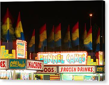 Signs Of Food At The Carnival Canvas Print by James BO  Insogna