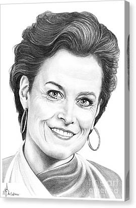 Sigourney Weaver Canvas Print by Murphy Elliott