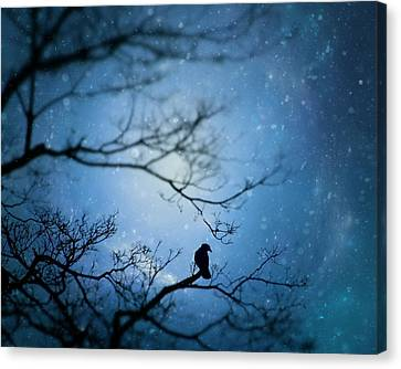 Silent Falling Snow Canvas Print by Gothicolors Donna