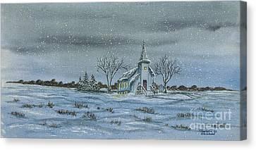 Silent Night Canvas Print by Charlotte Blanchard