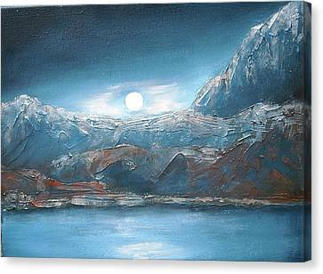 Silent Night In Silver Canvas Print by Anne Thomassen