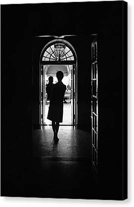 Silhouette Portrait Of Jacqueline Canvas Print by Everett