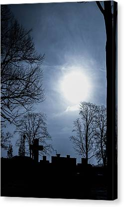 Silhouettes Of Trees And Crosses Canvas Print by Toppart Sweden