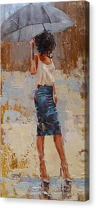 Silk Canvas Print by Laura Lee Zanghetti