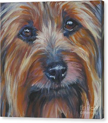 Silky Terrier Canvas Print by Lee Ann Shepard