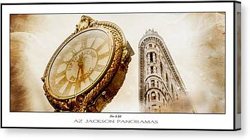 Silver And Gold Poster Print Canvas Print by Az Jackson