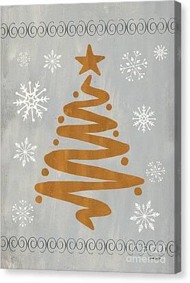 Silver Gold Tree Canvas Print by Debbie DeWitt