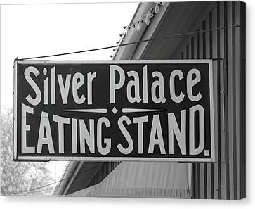 Silver Palace Eating Stand Sacramento Ca Canvas Print by Troy Montemayor