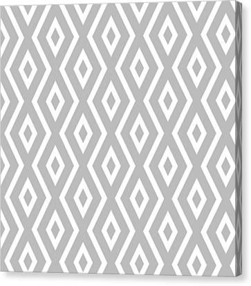 Silver Pattern Canvas Print by Christina Rollo