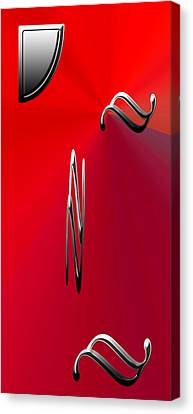 Silver Shapes On Red Canvas Print by Aimee L Maher Photography and Art Visit ALMGallerydotcom